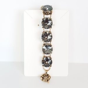 Beautiful Sparkly Grayish Faux Stone Bracelet